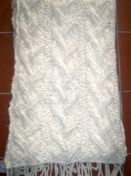 Hand Knit Throw