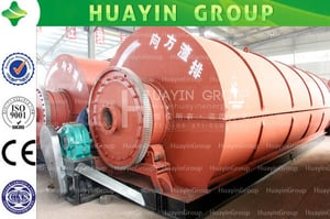 High Capacity Continuous Waste Plastic Recycling Pyrolysis Plant For Crude Oil