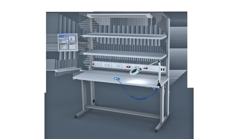 Electrostatic Discharge Maxi Work Bench (Maxi Series Antistatic Workbenches)
