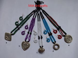 Trendy Colorful Dokra Necklace