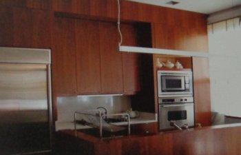Wood Veneer Kitchen Shutters