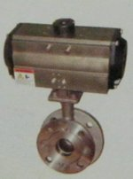 Flush Bottom Ball Valve With Pneumatic Rotary Actuator