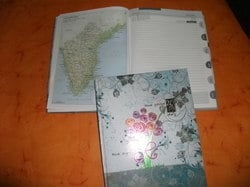 New Year Diary with Map