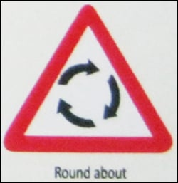 Round About Sign