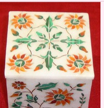 Beautiful Marble Inlay Jewelry Boxes For Decoration