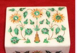 Beautiful Marble Malachite Stone Inlay Work Jewelry Boxes
