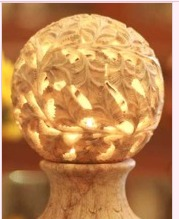 Beautiful Natural Stone Candle Lamp
