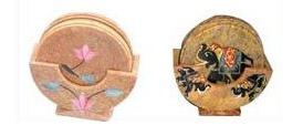 Natural Stone Tea Coaster 6 Pieces 01 Set