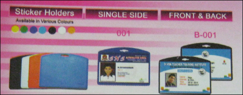 Sticker Holders (Single and Double Side)