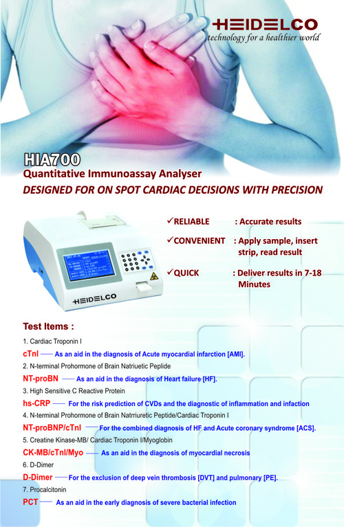 Cardiac Bio Markers - Heidelco Medicore Private Limited, HD-61