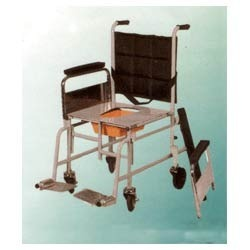 Ss Folding Wheel Chair With Commode