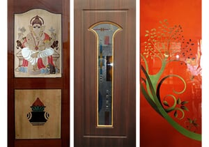 Painted Glass Plywood Doors