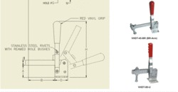 Hold Down Toggle Clamp Vertical Handle Flanged Base
