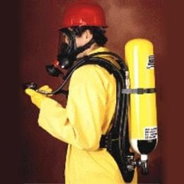 Breathing Apparatus With Carbon Composite Cylinder