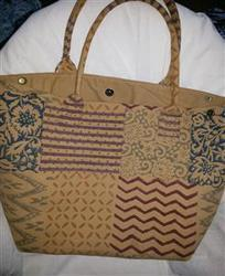 Canvas Block Print Shopping Bag
