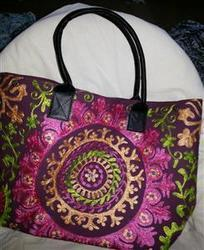 Designer Suzani Shopping Bag