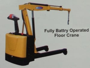 Fully Battery Operated Floor Crane