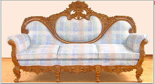 Designer Wooden Carving Sofa