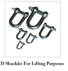D Shackles For Lifting Purposes