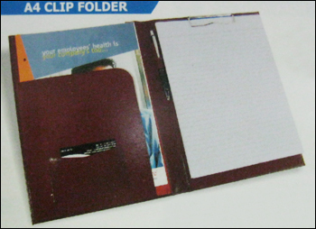 Leather A4 Clip Folder