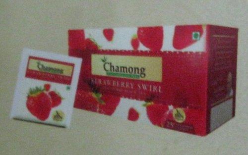 Strawberry Swirl Flavored Tea Bag