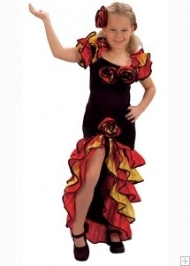 Girl Spanish Dance Dress