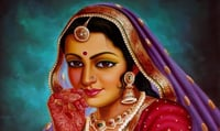 Indian Lady Painting