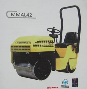 Ride On Double Drum Vibratory Roller