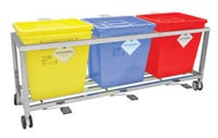 Waste Segregation Trolleys (Stainless Steel)