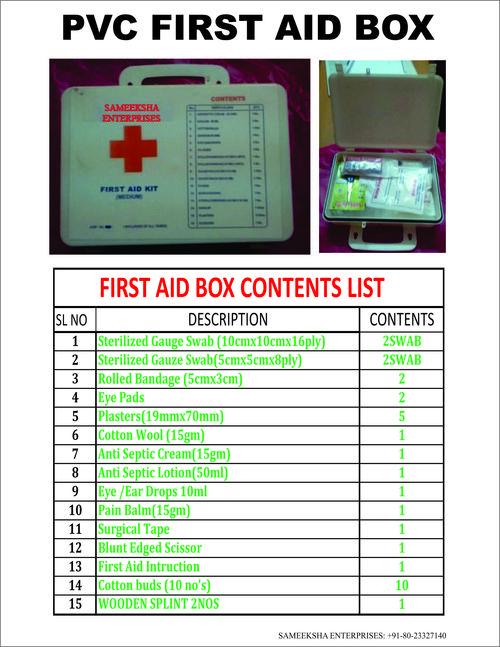 Pvc First Aid Box