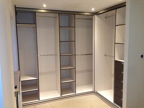 l shape wardrobe with loft design in chennai tamil nadu. Black Bedroom Furniture Sets. Home Design Ideas