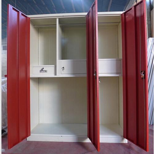 3 Doors Metal Storage Designer Wardrobe