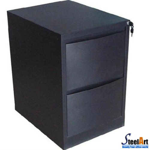 2 Drawers Black File Storage Cabinet