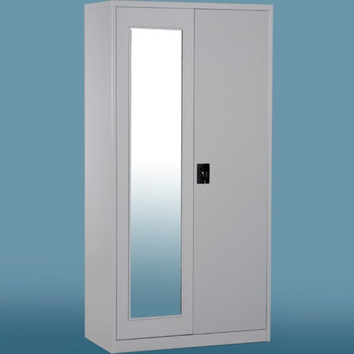 Steel Storage Mirror Wardrobe in   Mudan Avenue