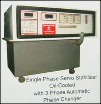 Single Phase Servo Stabilizer Oil-Cooled With 3 Phase Automatic Phase Changer