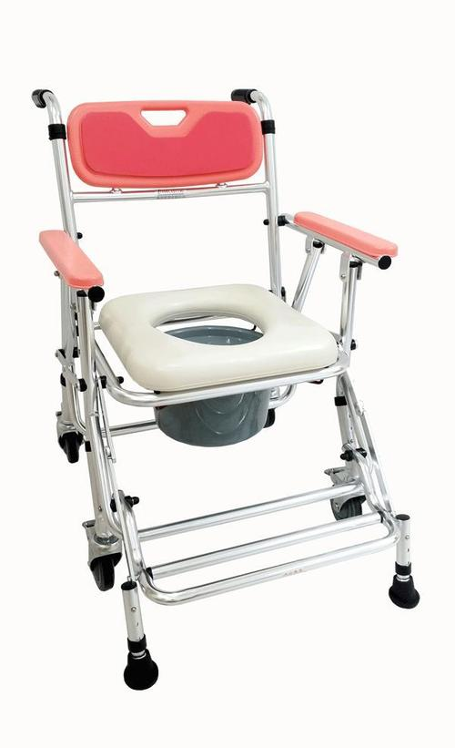 Folding Commode Chair\\342\\200\\223Seat Height Adjustable