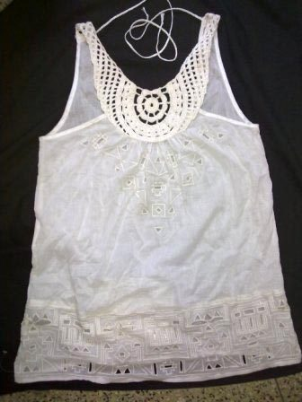 Ladies Crochet T-Shirt