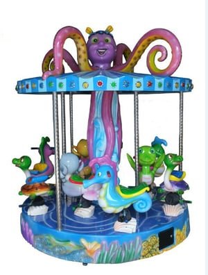 Amusement Carousel Coin Operated Game Ride