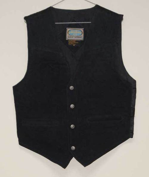 Leather Waist Coat Black