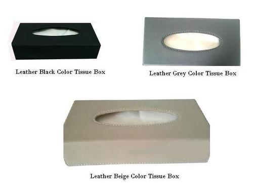 Leather Tissue Box Holder