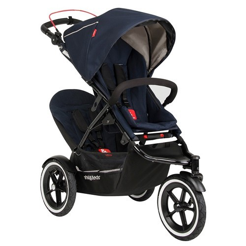 Phil And Teds Navigator Double Midnight Blue Baby Stroller