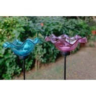 Iron Garden Stakes (Blue And Pink)