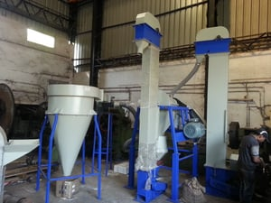 Maize Greets And Germs Separator Machine