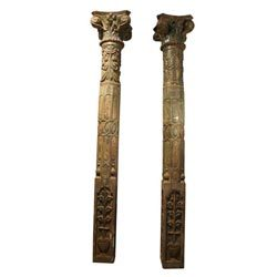 Wooden Carved Pillars