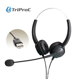 Stereo USB Headset with Microphone for Call Center