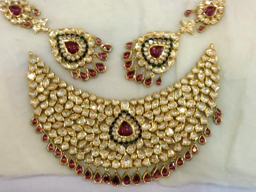 4af91dd04ba58 Kundan Meena Polki Jewellery in Jaipur, Rajasthan - P. V. GEMS ...