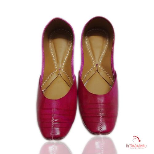 Pink Traditional Ladies Jutti's