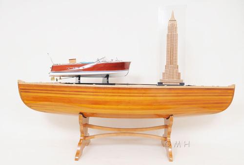 5 Feet Wooden Canoe Table