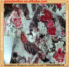 Synthetic Floral Leather Fabric