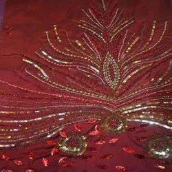 Attractive Embroidered Silk Dupioni Fabric in  Sudhama Nagar